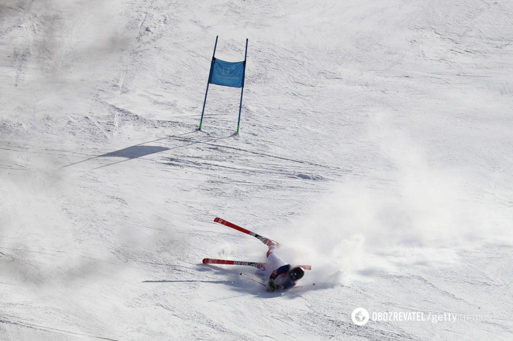 Корейська гірськолижник влетів у знімальну групу на ОІ-2018