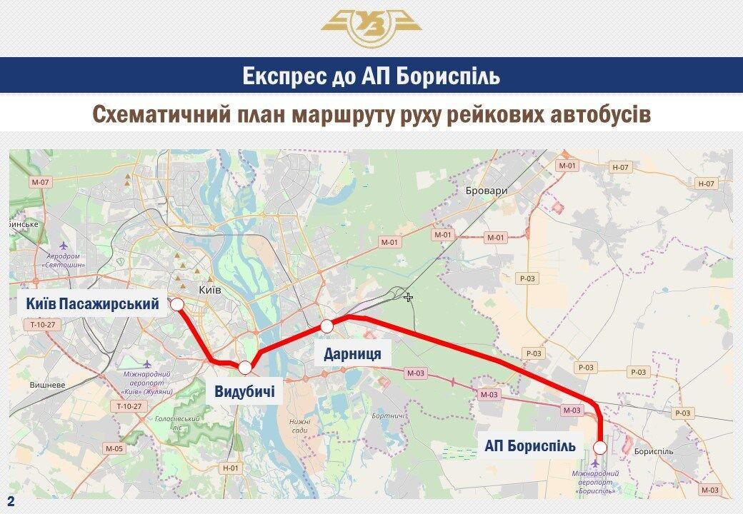"""Поїзд з Києва до """"Борисполя"""": з'явилися подробиці про проект"""
