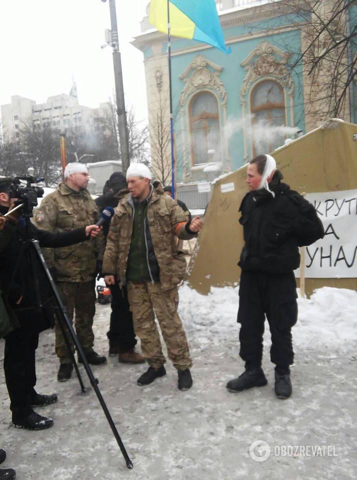 Травмовані мітингувальники під Радою 27.02.2018