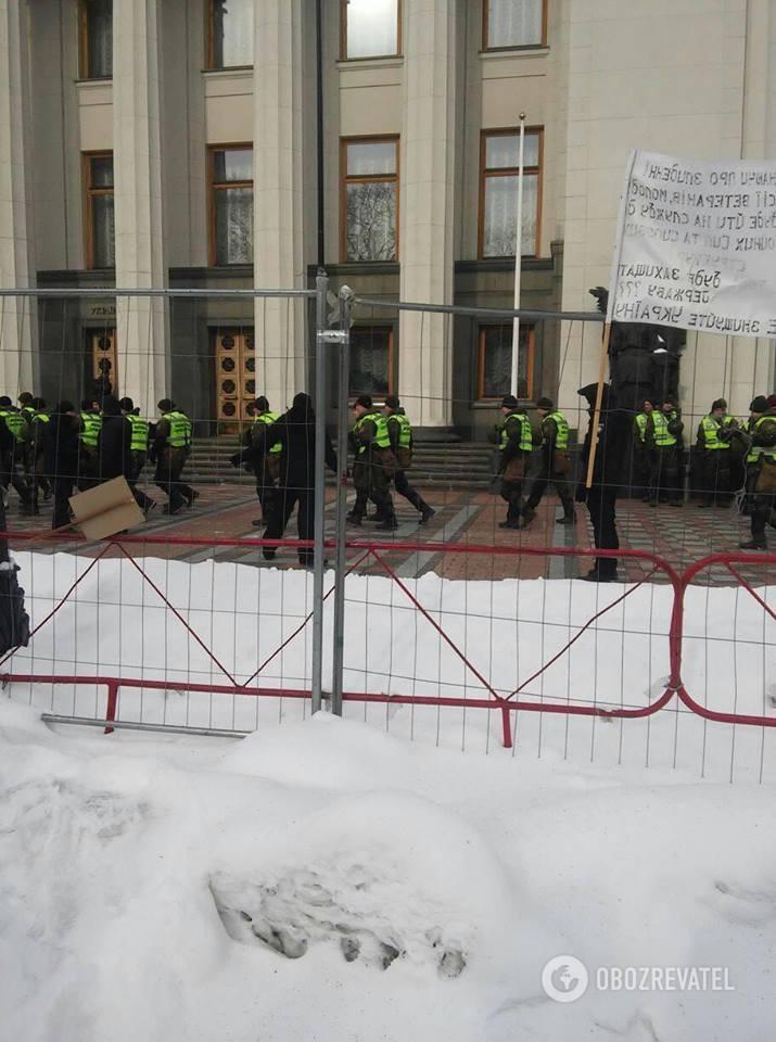 Охорона під Верховною Радою 27.02.2018