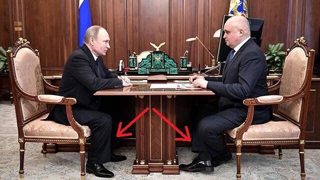 В кабинете Путина чиновнику пришлось поджимать ноги