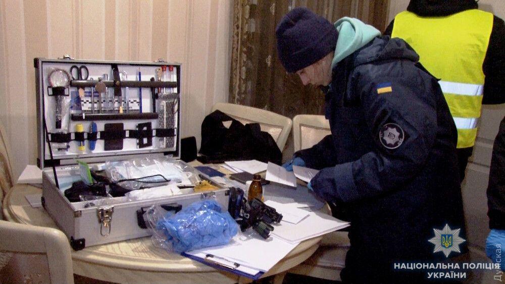 Полиция на месте убийства женщины в Одессе