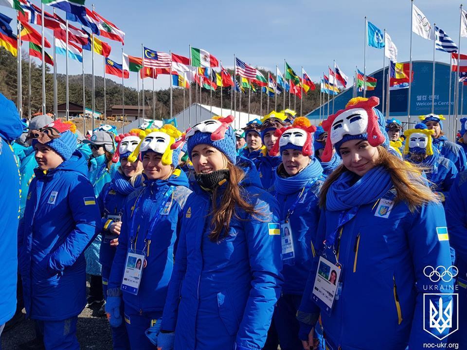 У Пхенчхані урочисто виконали гімн і підняли прапор України