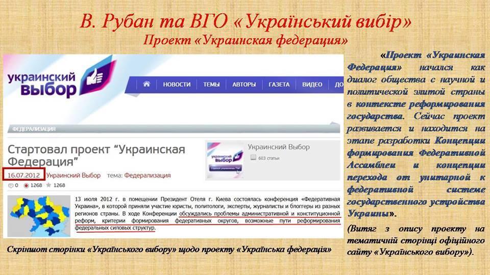 СБУ показала докази роботи Рубана на Росію
