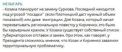 """Сурков находится под угрозой """"посадки"""" - СМИ"""