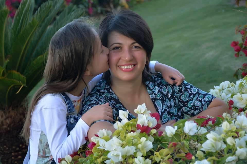 Лілія Гордєєва з донькою