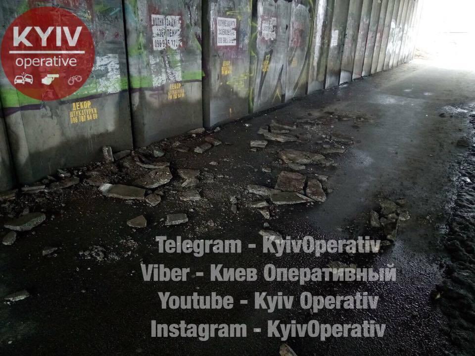 В Киеве может обвалиться еще один путепровод
