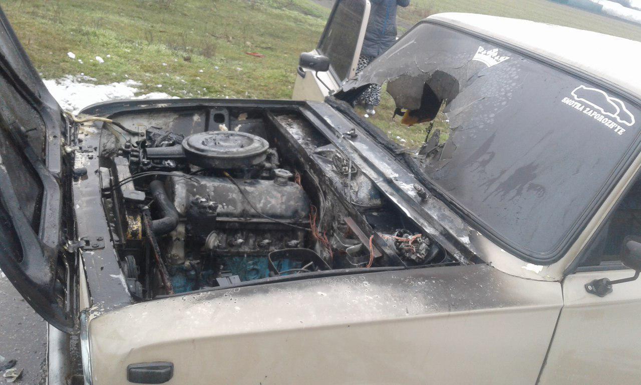 В Запорожской области горели два автомобиля (ФОТО)