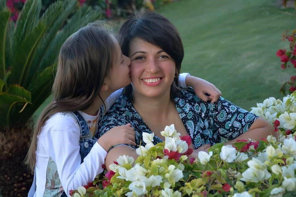 Лилия Гордеева с дочкой