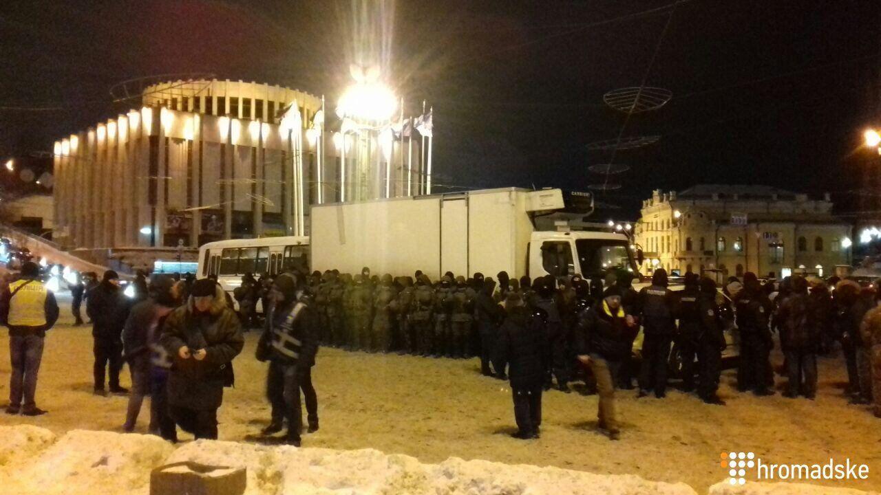 Акция Саакашвили в центре Киева: полиция приняла меры