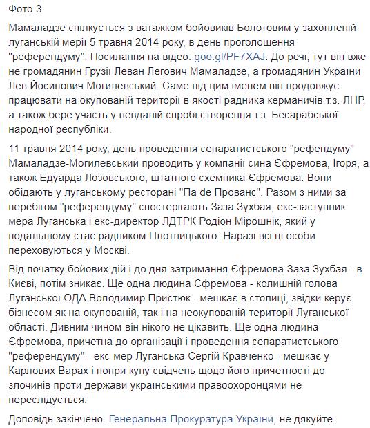 """""""Довести не складно"""": журналіст про зв'язки Єфремова з """"ЛНР"""""""