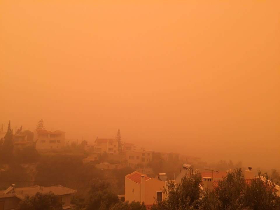 Африканская пыль на Крите
