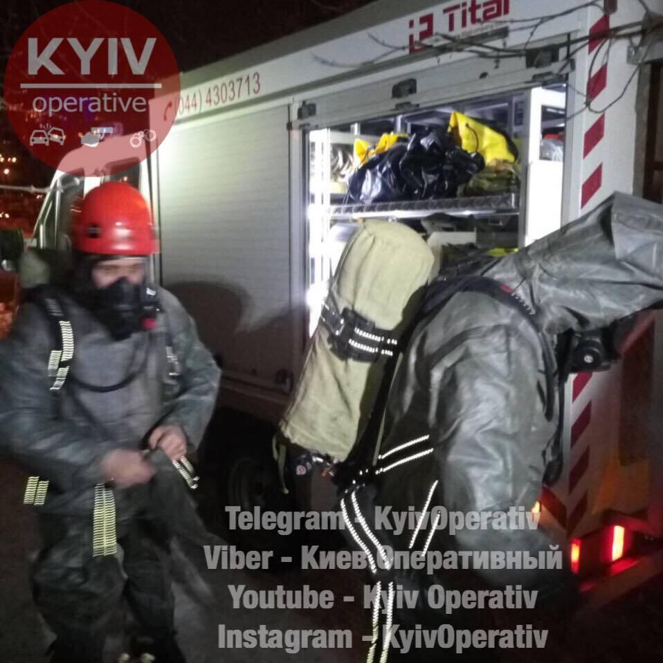 Пожежа в колекторі Києва