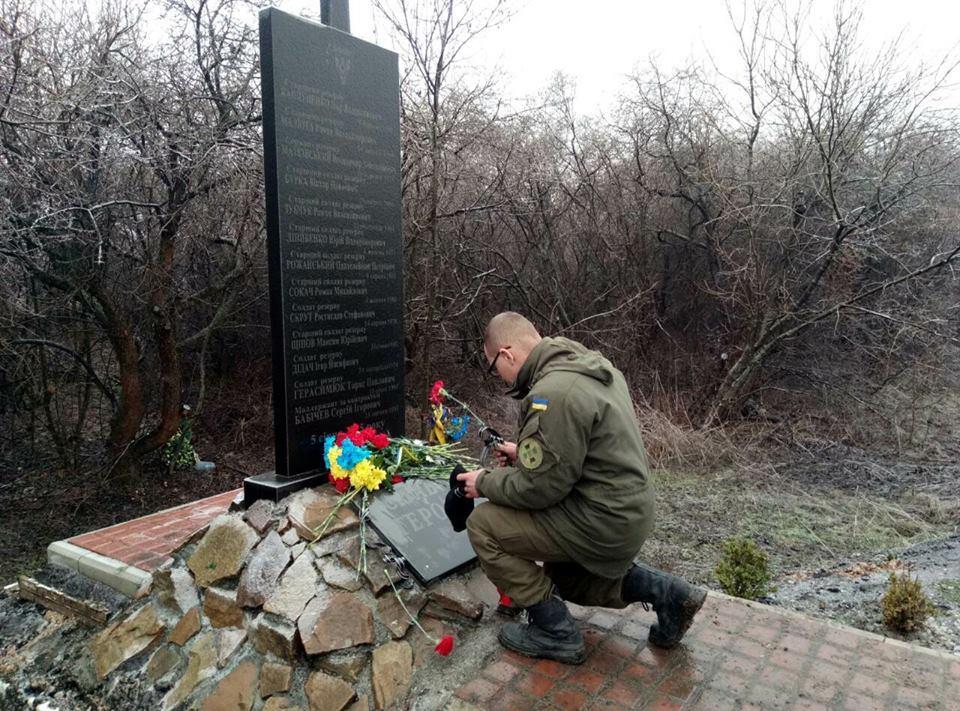 Ежегодно 5 января бойцы батальона посещают место ДТП, унесшего жизни 12 их побратимов