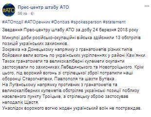 Терористи на Донбасі після затишшя атакували ВСУ