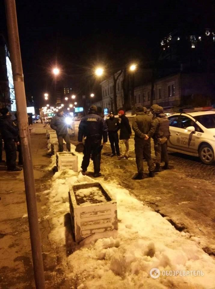 Потасовка у посольства Польши в Киеве