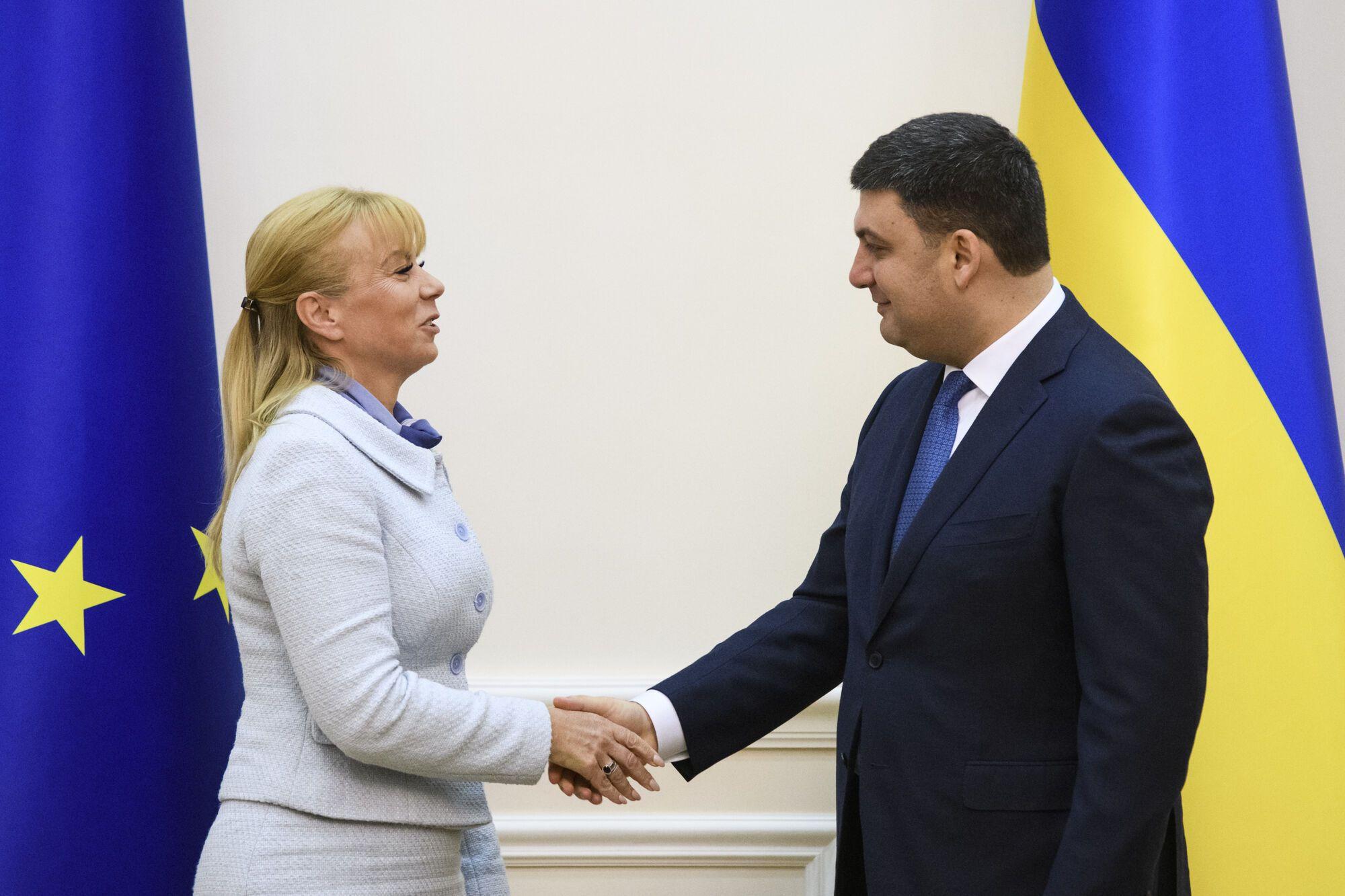 Эльжбета Беньковска и Владимир Гройсман