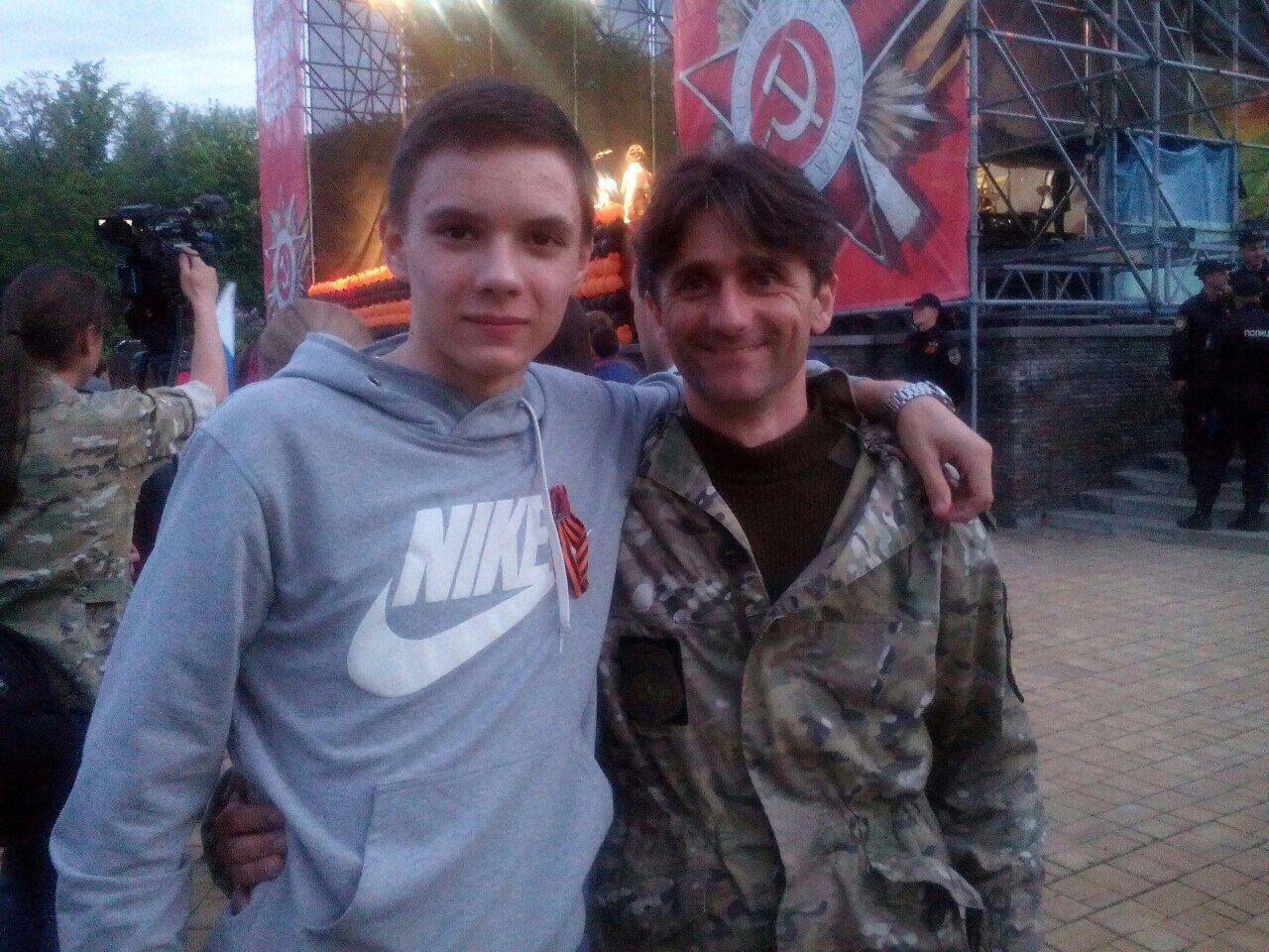 Деян Берич с сыном Мики