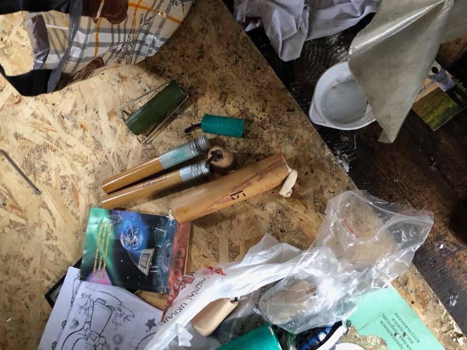 Взрывоопасные предметы, найденный в палатках