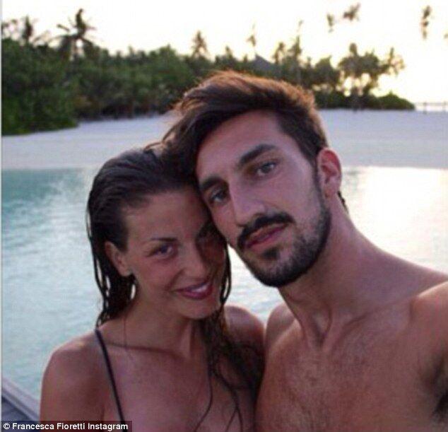 Давиде Астори с женой Франческой