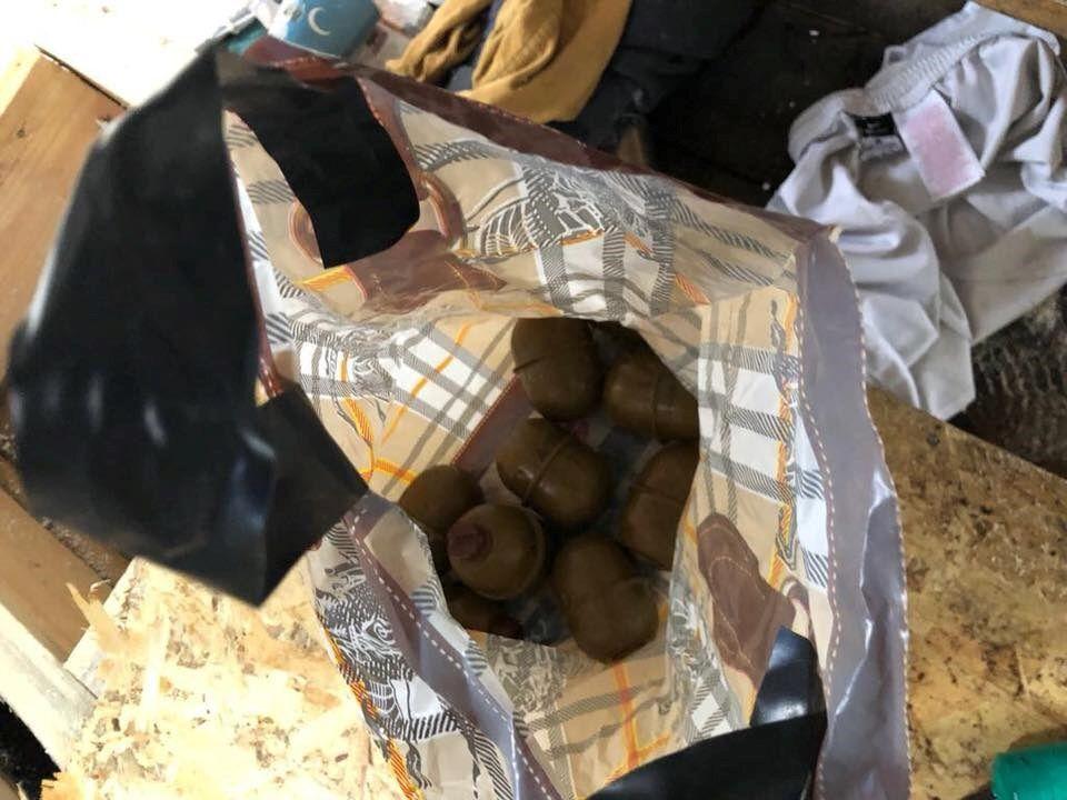Гранати, знайдені в наметах прихильників Саакашвілі 3 березня 2017
