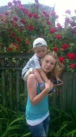 Светлана с 3-летним сыном Владиком