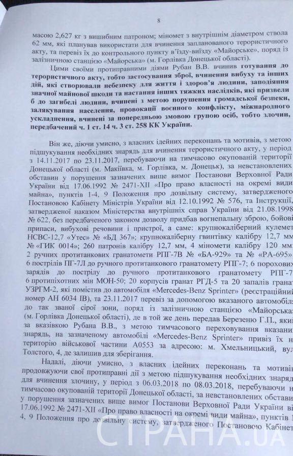 Рубана запідозрили в замахові на Порошенка: документ