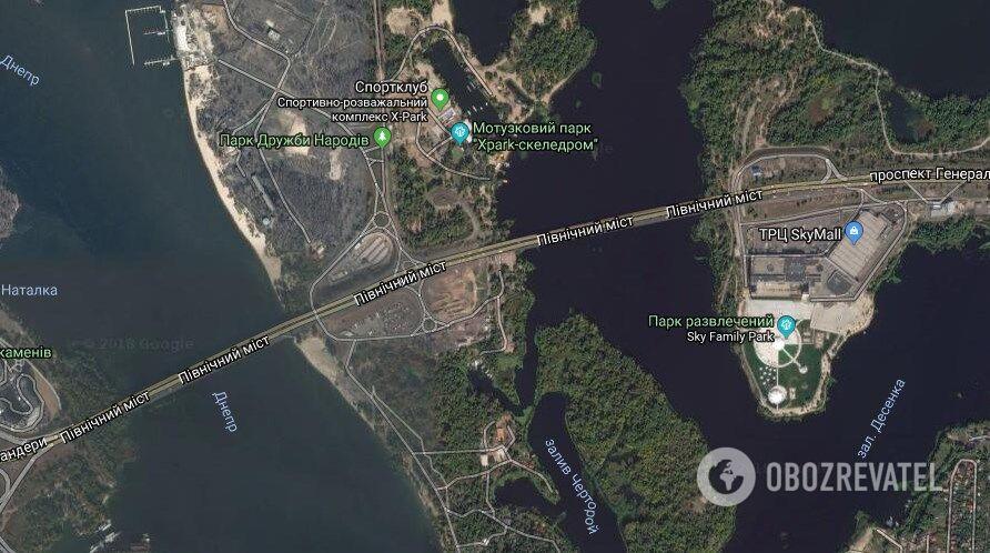 """Надзвичайна подія сталася на Північному мосту за парком """"Дружби народів"""""""