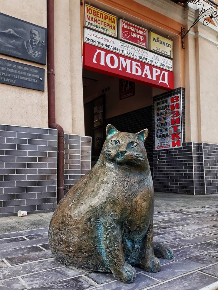 В Одессе увековечили самую толстую базарную кошку