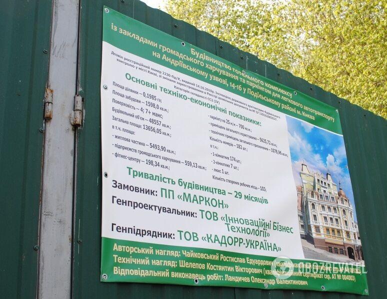 На Андріївському зупинили скандальне будівництво готелю