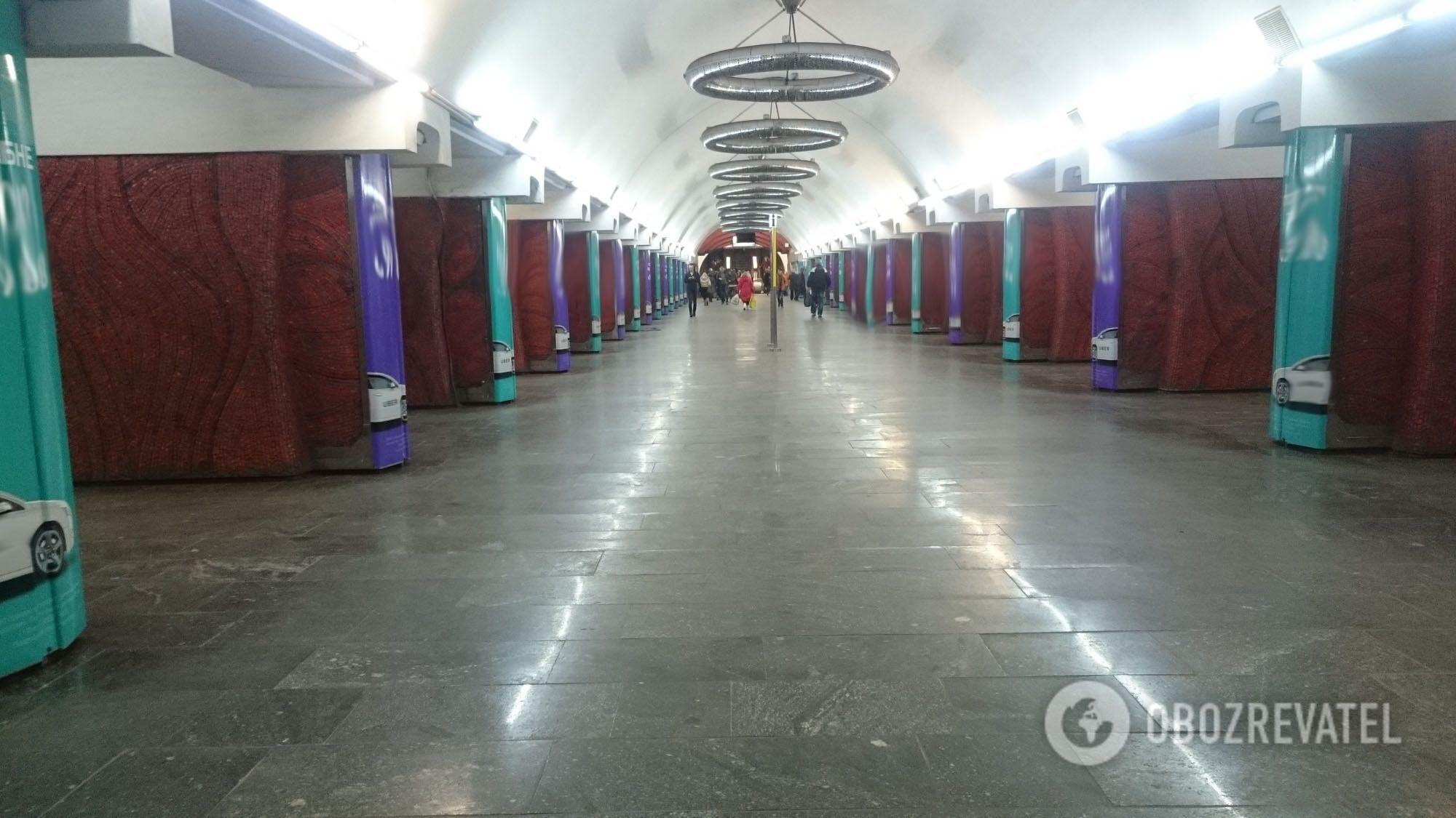 """Станція метро """"Палац Україна"""", квітень 2018 року"""