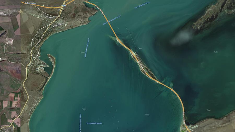 Крымский мост появился на картах