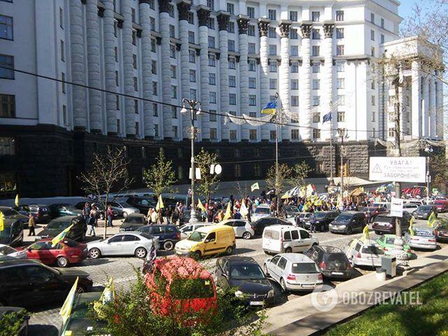 Акція протесту під Кабміном 18 квітня 2018 року