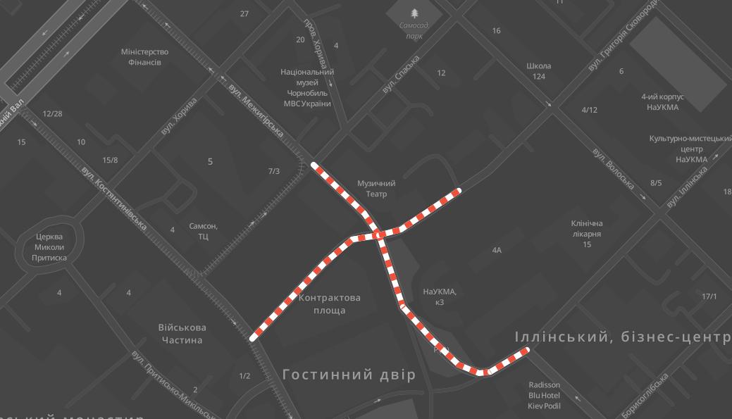 В Киеве ограничат движение: карта перекрытий