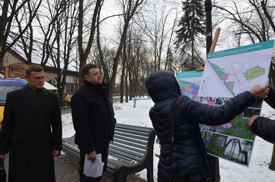 У Куренівському парку з'явиться креативний простір і фонтан