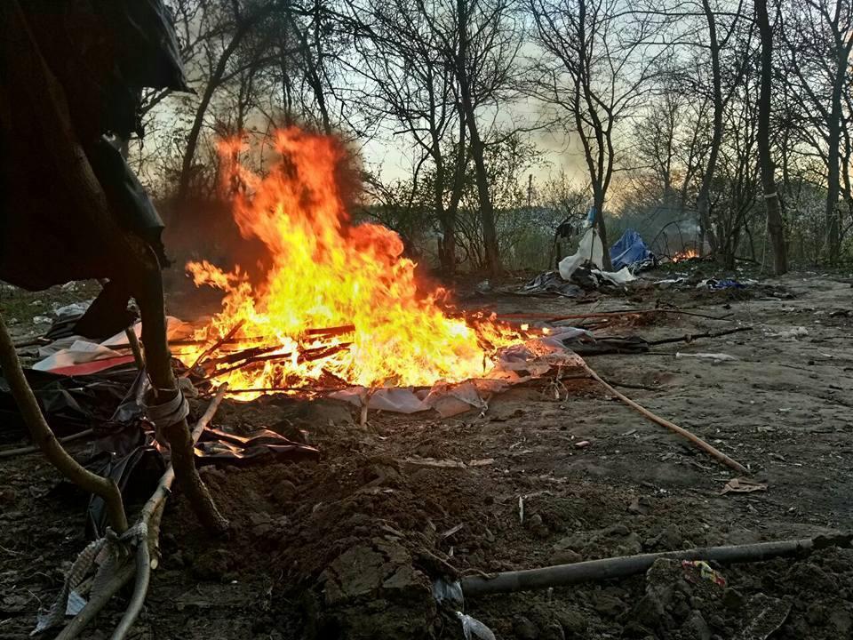 Атака на лагерь ромов в Киеве: ответ полиции
