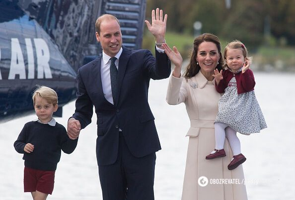 Кейт Міддлтон і принц Вільям з дітьми Джорджем і Шарлоттою