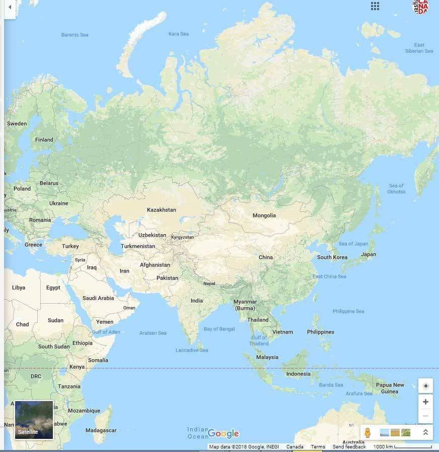 Google показал карту Земли без России