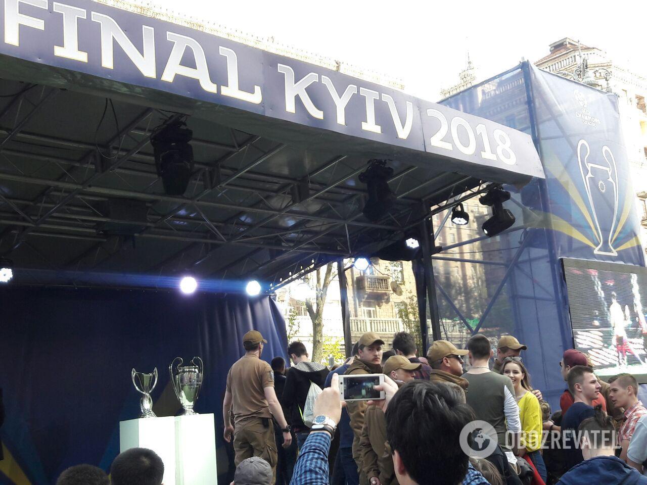 В Киеве установят модель кубка Лиги чемпионов