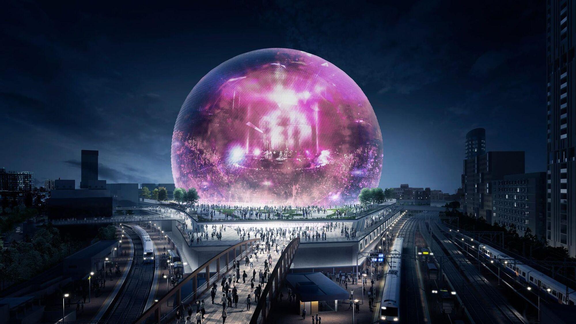 Арена-сфера в Лондоне