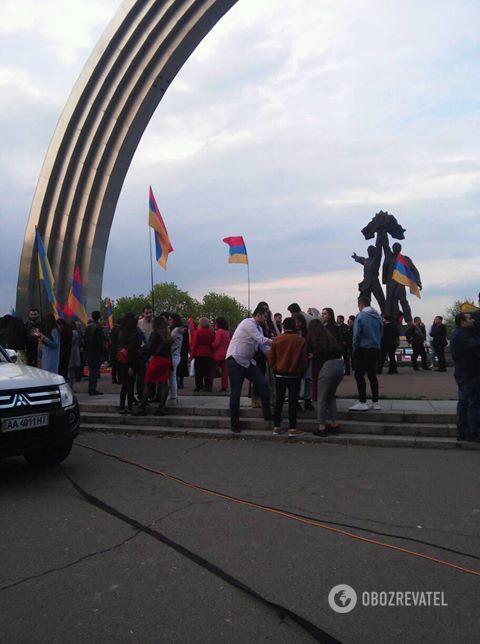Акція в Києві з нагоди 103 річниці геноциду вірмен. 24.04.2018