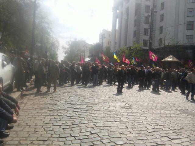 Акция протеста афганцев и силовиков-ветеранов в Киеве 25.04.2018