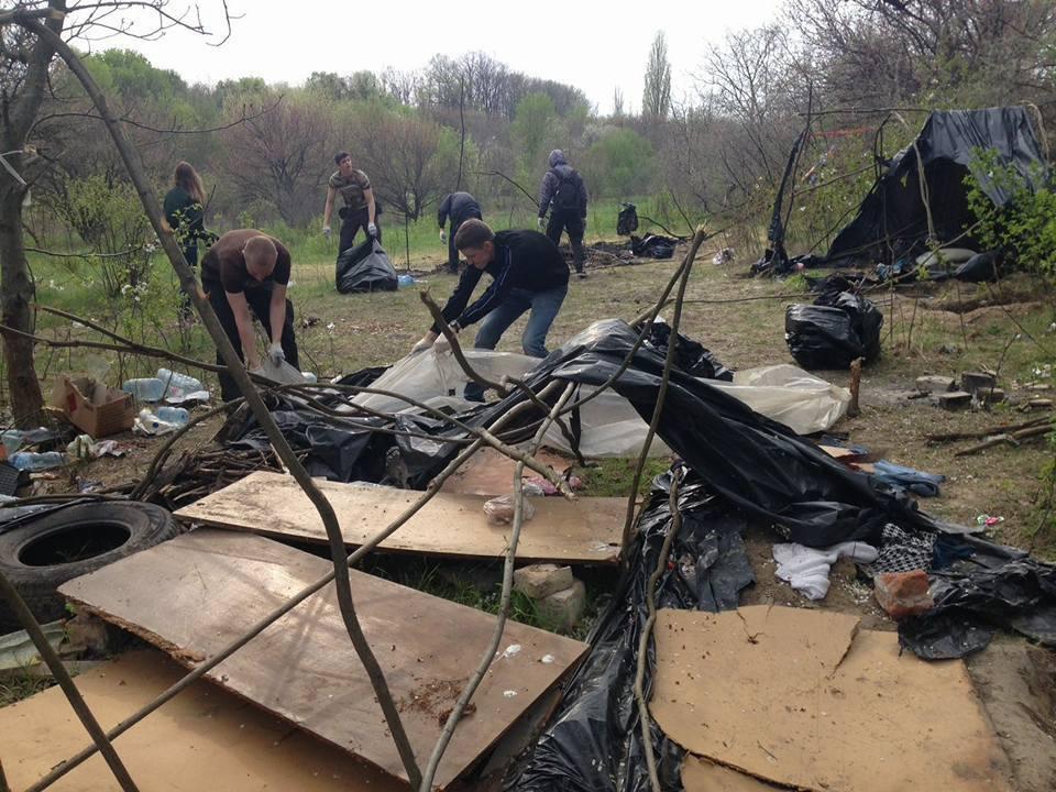 Лагерь ромов после погрома
