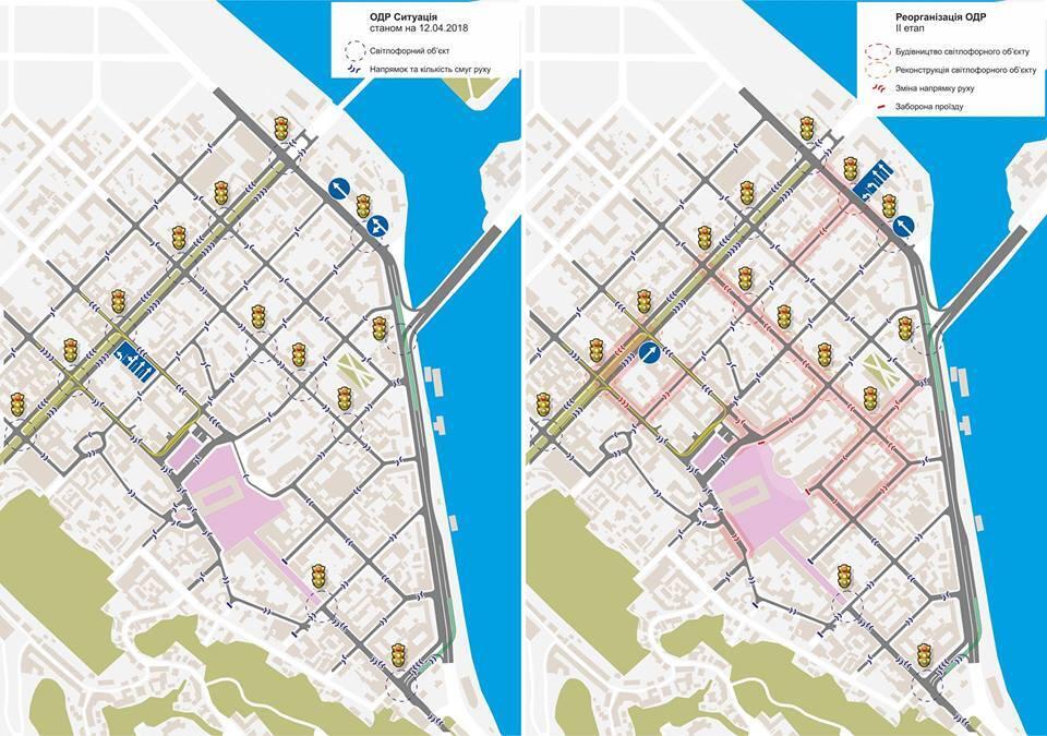 В Киеве меняется схема дорожного движения