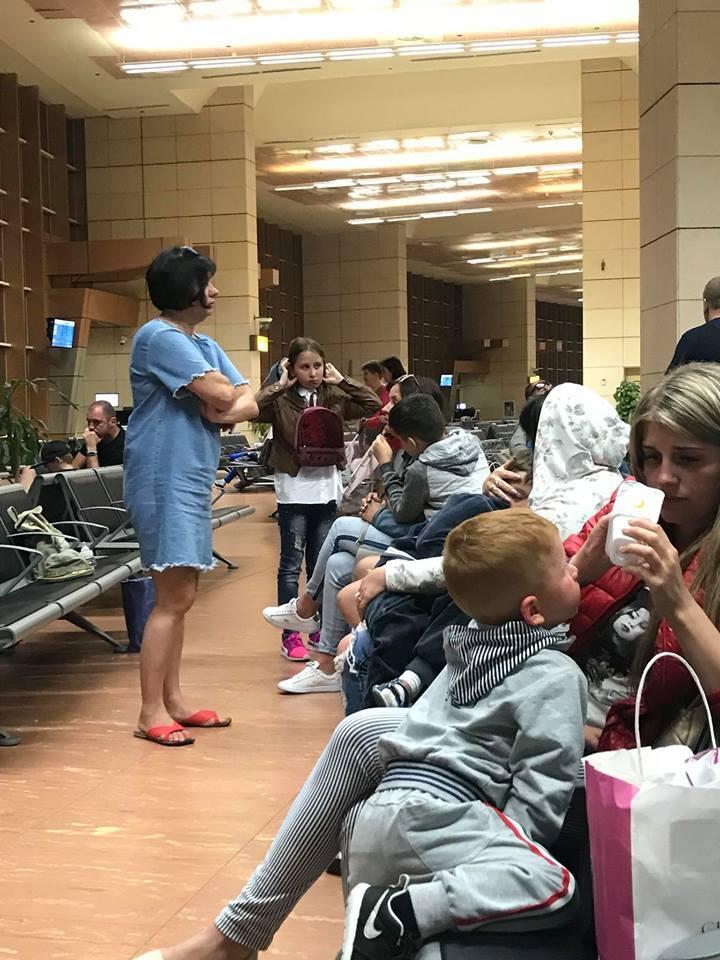 Туристи в аеропорту Шарм-ель-Шейха
