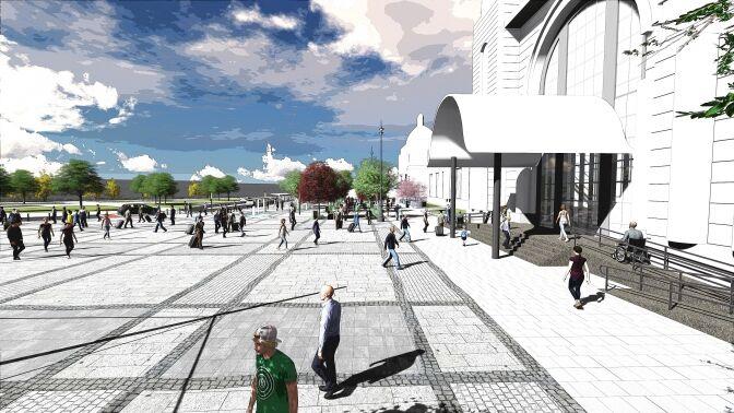Якою буде привокзальна площа у Львові: ескізи проекту
