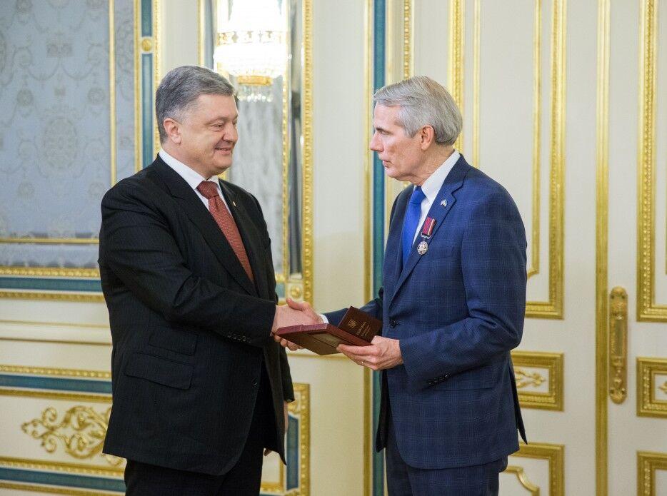 Петр Порошенко и Роберт Портман