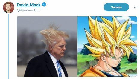 Волосы Трампа попытались сбежать