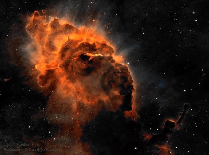 Туманність HH 666 в сузір'ї Кіль