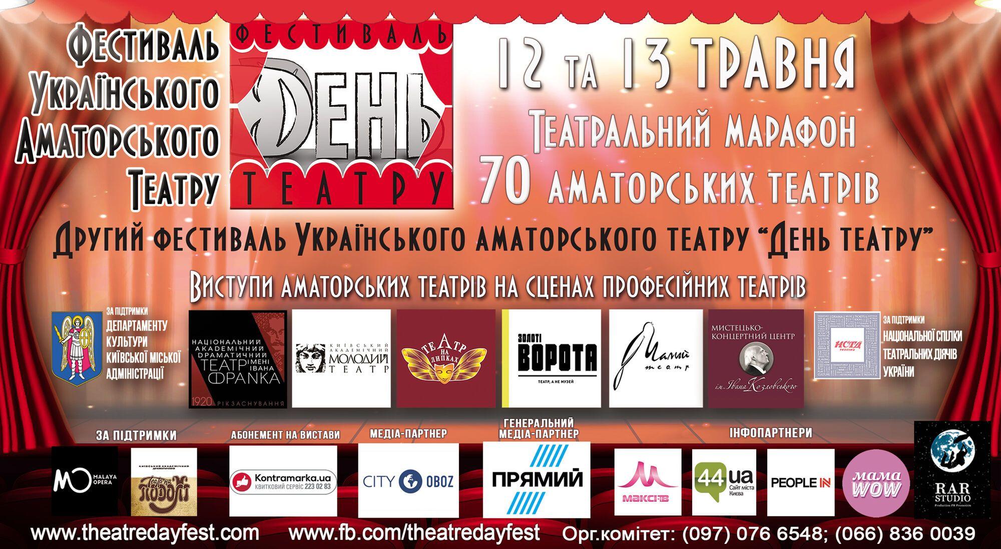 У Києві стартує грандіозний фестиваль театру